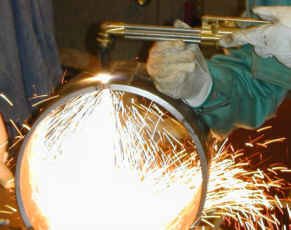 Torch cutting of pipe
